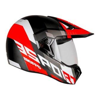 Capacete Moto Feminino Masculino Bieffe 3Sport Adventure