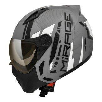 Capacete Moto Peels Mirage Techride Com Óculos Solar Fumê Interno