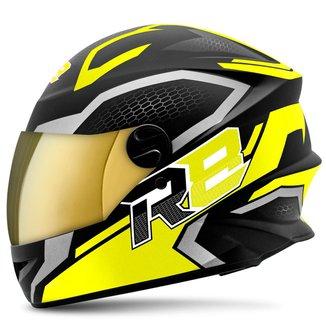 Capacete Moto Pro Tork  R8 Air Fosco Viseira Dourada