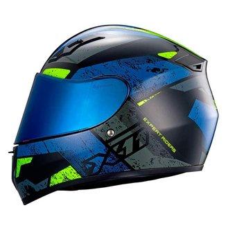 Capacete Moto X11 Trust Pro Ballads C/ Viseira Extra Motoboy