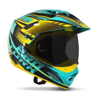 Capacete Motocross Pro Tork Th1 Vision Adventure Viseira Fumê