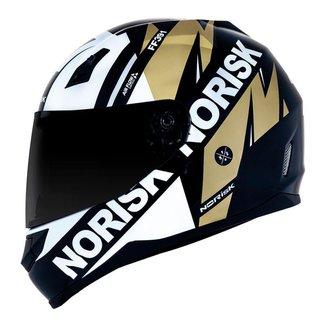 Capacete Norisk FF391 Furious Preto Branco e Dourado