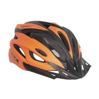 Capacete para Bike Gta Mtb Preto/Laranja com sinalizador Led