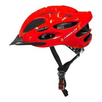 Capacete Para Bike Led Traseiro e Viseira Absolute