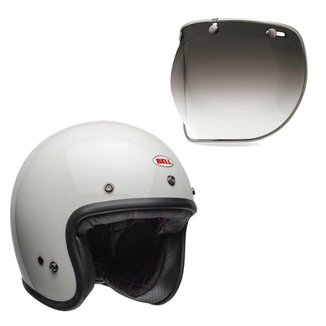 Capacete para Moto Bell Helmets Custom 500 B15516 + Viseira Bubble Deluxe
