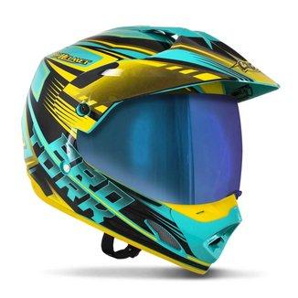 Capacete Protork Motocross  Th1 Vision Adventure Unissex