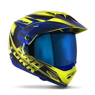 Capacete Protork Motocross  TH1 Vision Adventure Viseira Iridium Unissex