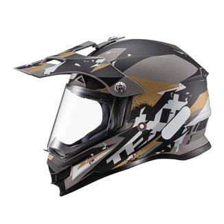 Capacete Texx Carcara - Grow Marrom BMX Moto Cross