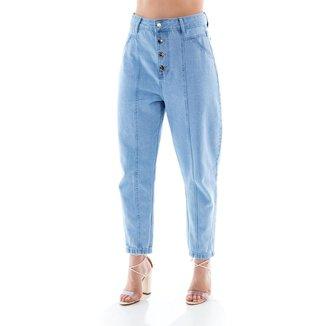 Capri Jeans Feminina Arauto Modelagem Mom