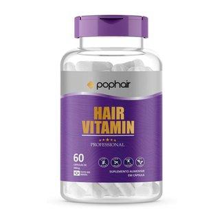 Cápsula Profissional Pop Hair Vitamina Para Cabelo Unha E Pele - Roxo