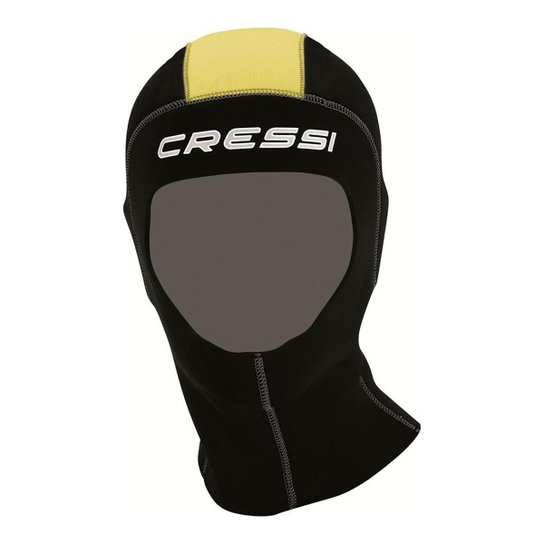 Capuz Neoprene Cressi Para Mergulho Hood Man 5.0 - Preto