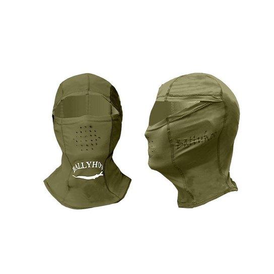 Capuz ninja Ballyhoo com fator de proteção solar 50  UPF - Verde escuro