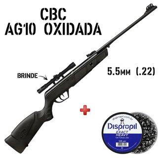 Carabina de Pressão AG10 Oxidada Preta 5.5mm + Chumbinho + Luneta