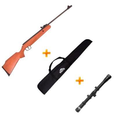 Carabina de Pressão BAM B12-6 5.5mm SWBR + Luneta 4x20 + Capa