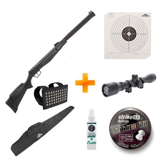 Carabina de Pressão Beretta RX20 S3 Suppressor 5.5mm +Luneta+Capa+Chumbinho+Alvos - Stoeger Airguns - Preto