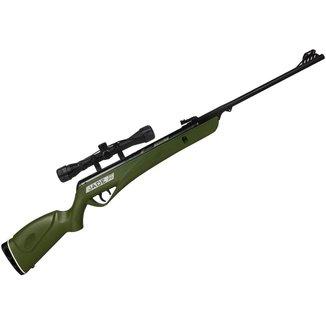 Carabina de Pressão CBC Jade PRO Oxidada Verde 4.5mm + Luneta 4x32