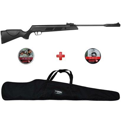 Carabina de Pressão Fixxar Black Hawk 5.5mm + Capa Simples + Chumbinhos Gamo