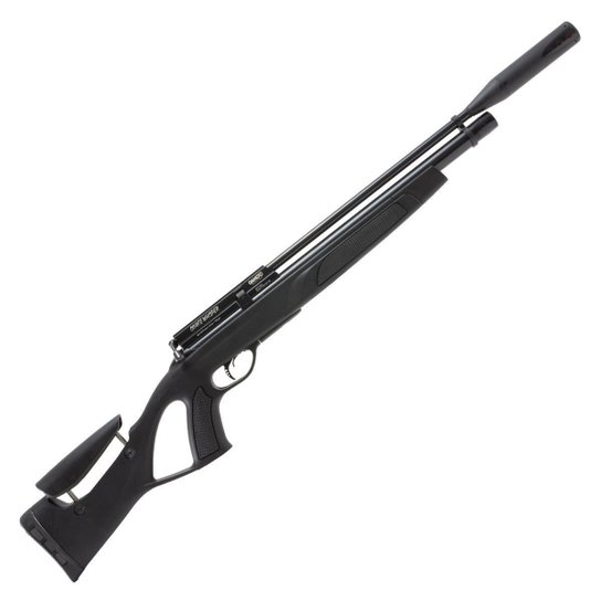 Carabina de Pressão PCP Coyote Black Whisper 5.5mm Preta + Capa - Gamo - Preto
