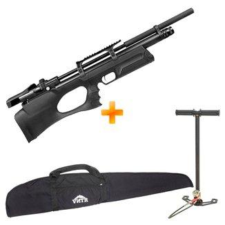 Carabina de Pressão PCP Puncher Breaker S Silent 5.5mm - KRAL ARMS + Bomba + Capa 900 FPS