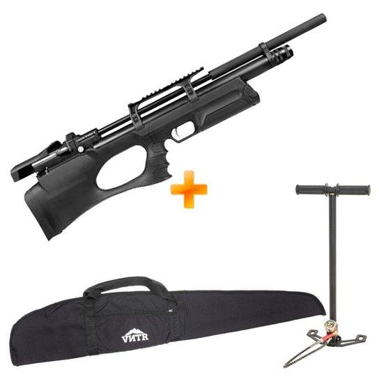 Carabina de Pressão PCP Puncher Breaker S Silent 5.5mm - KRAL ARMS + Bomba + Capa 900 FPS - Preto