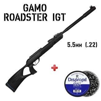 Carabina de Pressão Roadster IGT 10X 2 Geração Gás Ram 5.5mm + Chumbinho