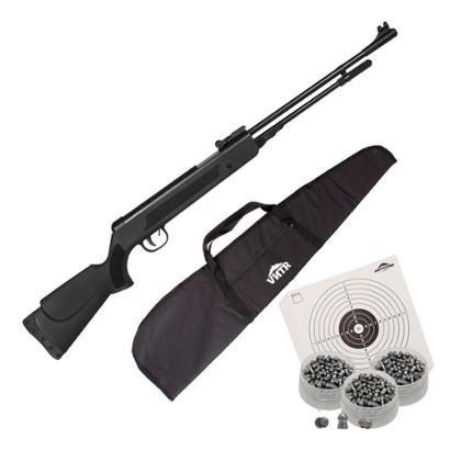 Carabina de Pressão Spring Black 5.5mm Fixxar + Capa + Chumbinho + Alvos - Unissex