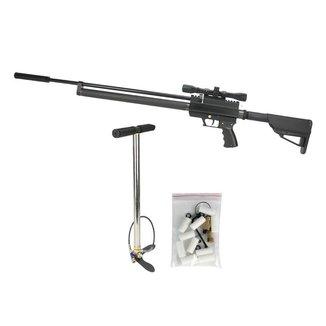 Carabina Pressão PCP QS Tactical 10T 5.5 Quick Shot + KIT