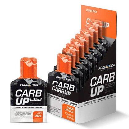 Carb Up Gel Black - Caixa C/ 10 Sachês - Probiótica