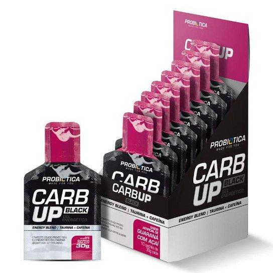 Carb Up Gel Black - Caixa C/ 10 Sachês - Probiótica -