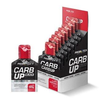 Carb Up Gel Black Morango Com 10 Sachês de 30g Probiótica