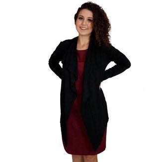 Cardigan Feminino Dia a Dia Versátil Confortável Elegante