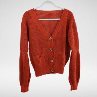 Cardigan tricot de botão Karina - Glam tricot