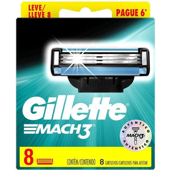Carga para Aparelho de Barbear Gillette Mach3 8 Unidades - Azul