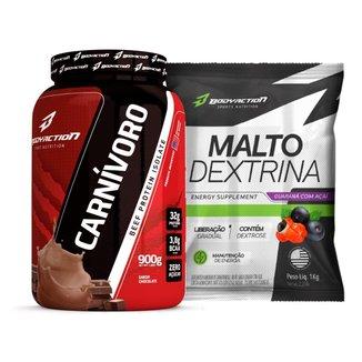 Carnívoro Beef Isolate 900g + Maltodextrina 1kg Body Action