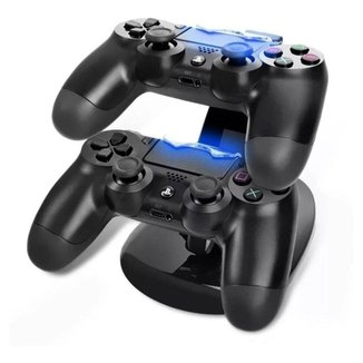 Carregador Controle Ps4 Base Duplo Carrega 2 Controles Play4