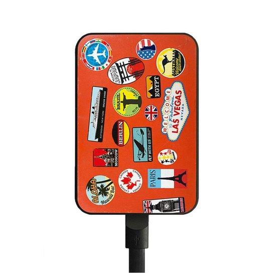 Carregador de Celular Portátil  - Bateria Externa - USB - 5000 Amperes - Estampado - Polo King - Única