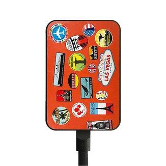Carregador Portátil  - Bateria externa - USB - 5000 Amperes - Estampado - Polo King
