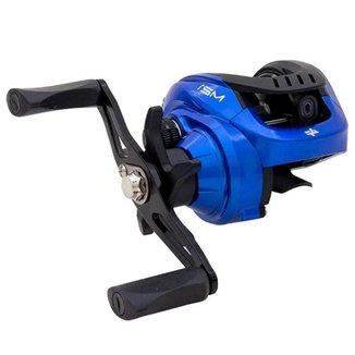 Carretilha Albatroz M21 Slim Azul Drag 5 Kg 3+1 Rolamentos Manivela Esquerda