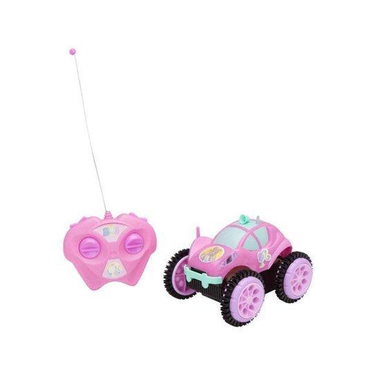 Carrinho de Controle Remoto Barbie Glamour Flip - Rosa