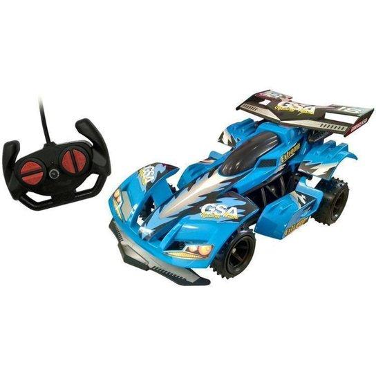 Carrinho de Controle Remoto Garagem - Azul