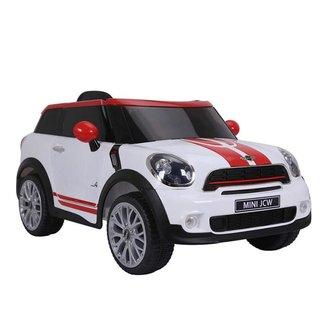 Carrinho Elétrico Infantil Bel Brink Mini Paceman 12v Com Controle Remoto Branco