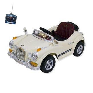Carro Infantil Eletrico Retro 6V Com Controle Remoto