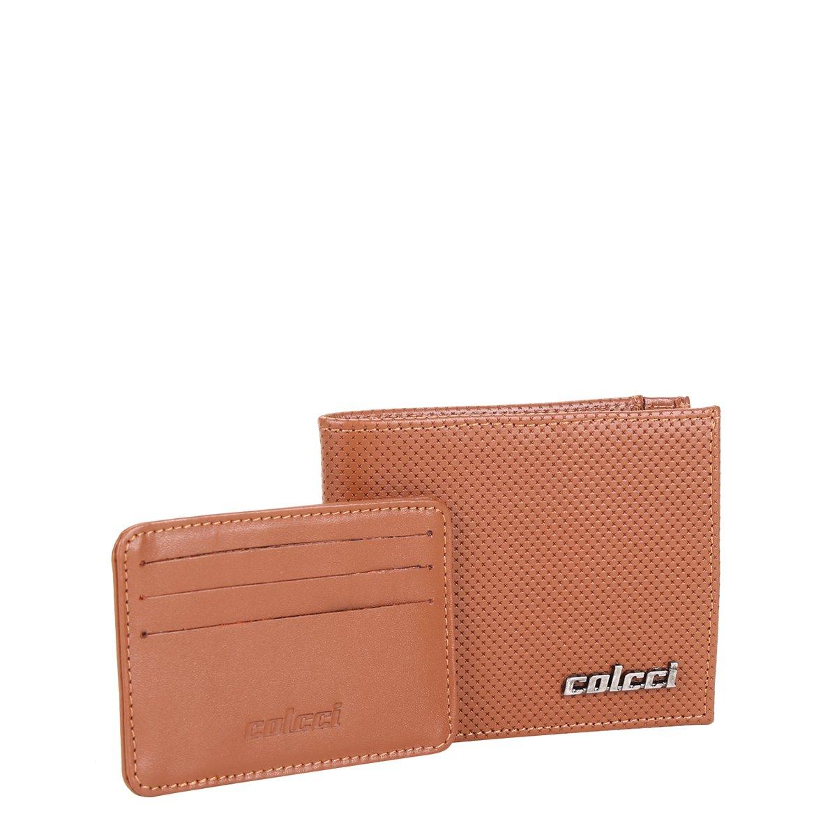 6242171e2 Carteira Couro Colcci Textura com Porta Cartão Masculina   Netshoes
