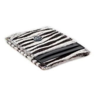 Carteira Slim Feminina Couro Estampa Zebra Porta Cartão