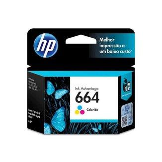 Cartucho HP Jato de Tinta 664 Tri-Color - F6V28AB