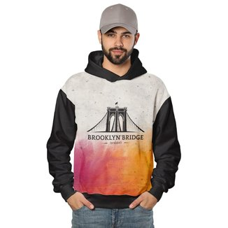 Casaco de Moletom Brooklyn Bridge Di Nuevo Masculino