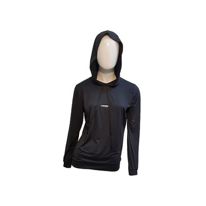 Casaco Esportivo Feminino Preto de Poliamida com elastano