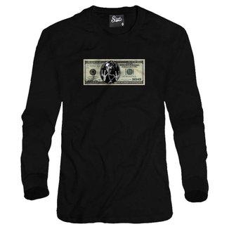 Casaco Moletom Skull Clothing Dollar 2Pac Masculino