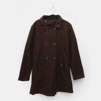 Casaco Plus Size Original Collection Lã Batida Feminino
