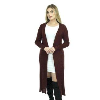 Casaco Tricot Jasmin Shopping do Tricô Inverno Lã Sobretudo